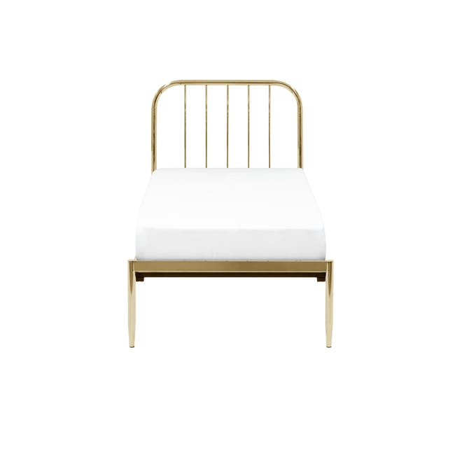 Giselle Single Bed - Brass - 0