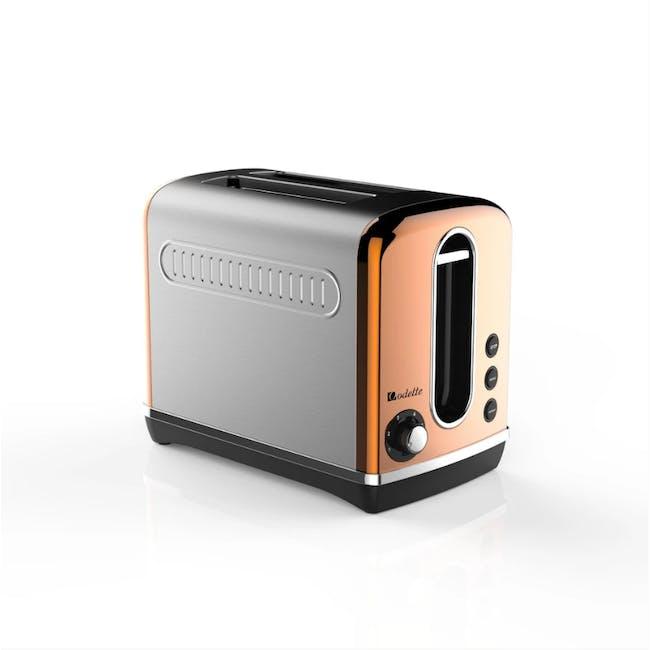 Odette Streamline 2-Slice Bread Toaster - Copper - 1