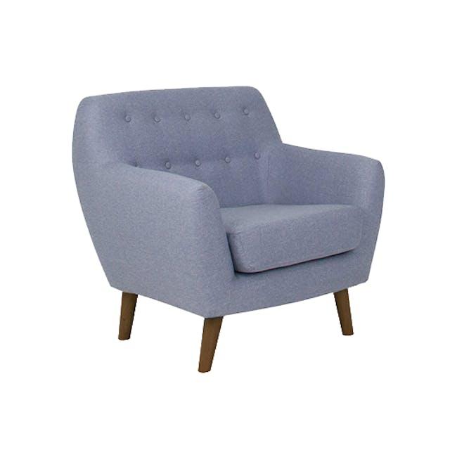 Emma 3 Seater Sofa with Emma Armchair - Dusk Blue - 14