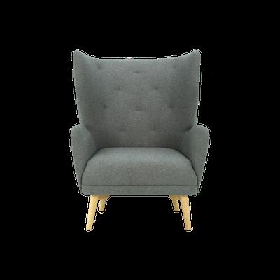 Kiwami Lounge Chair - Battleship Grey - Image 1