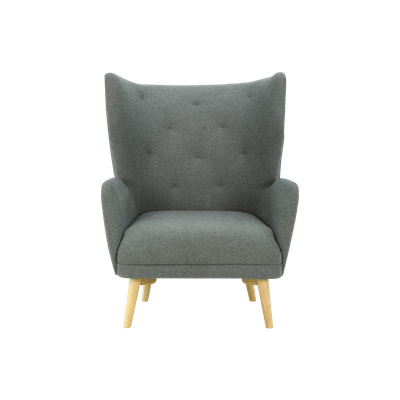 Kiwami Lounge Chair - Battleship Grey - Image 1