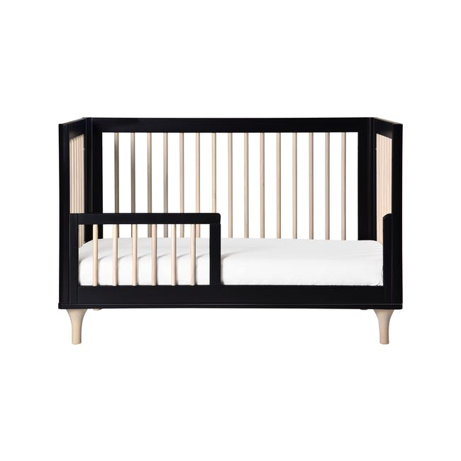 Babyletto Lolly 3-in-1 Convertible Crib - Black & Washed - 1