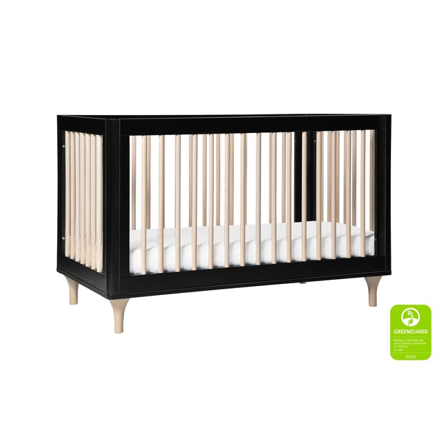 Babyletto Lolly 3-in-1 Convertible Crib - Black & Washed - 2