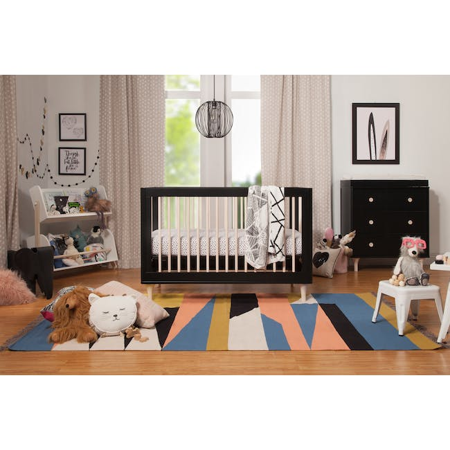 Babyletto Lolly 3-in-1 Convertible Crib - Black & Washed - 7