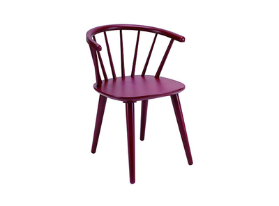 Caley Dining Chair - Maroon - Image 1