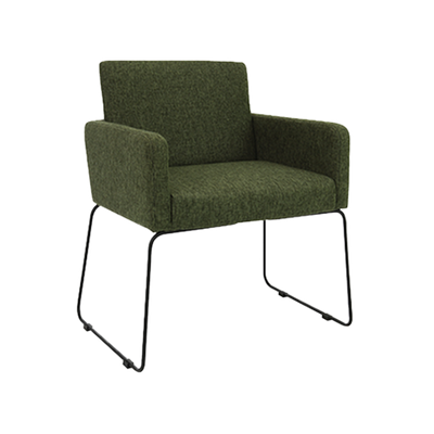 Delma Dining Chair - Matt Black, Forest - Image 1