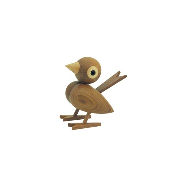 Halsen the Finch - Teak Wood Sculpture (Large) - 0