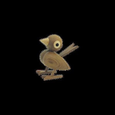 Halsen the Finch - Teak Wood Sculpture (Large) - Image 2