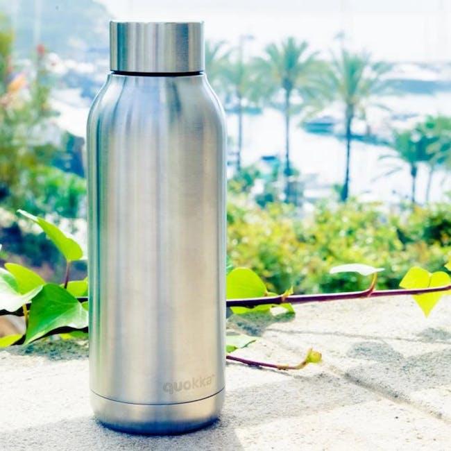 Quokka Stainless Steel Bottle Solid - Steel 510ml - 1