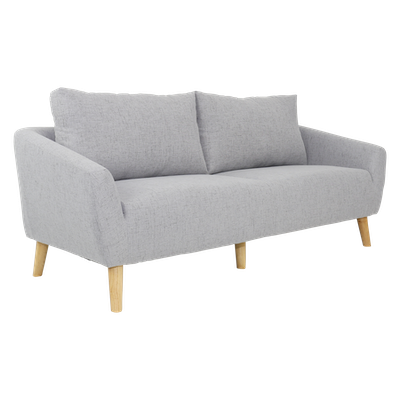 Hana 3 Seater Sofa- Light Grey - Image 2