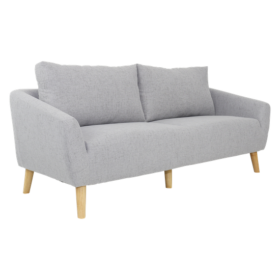 Hana 3 Seater Sofa Light Grey Apartment Sofas By Hipvan Hipvan