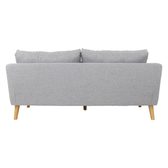 Apartment Sofas By Hipvan Hana 3 Seater Sofa Light Grey Hipvan
