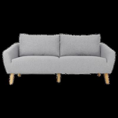 Hana 3 Seater Sofa- Light Grey - Image 1