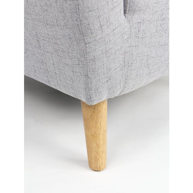 Hana 3 Seater Sofa- Light Grey - 8