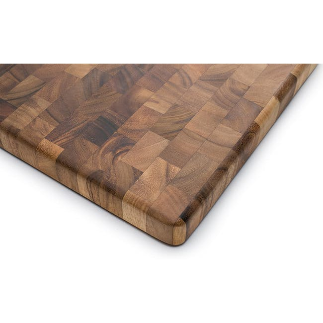 Ironwood Square End Grain Chef's Acacia Cutting Serving Board - 3