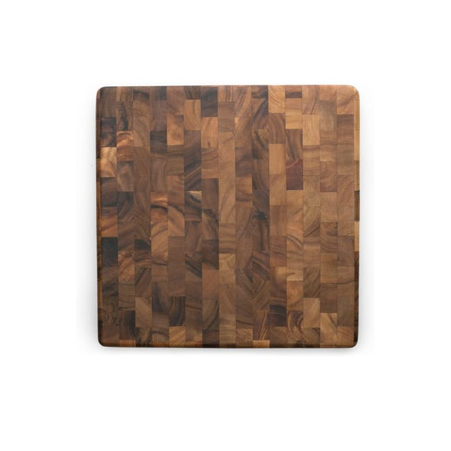 Ironwood Square End Grain Chef's Acacia Cutting Serving Board - 0