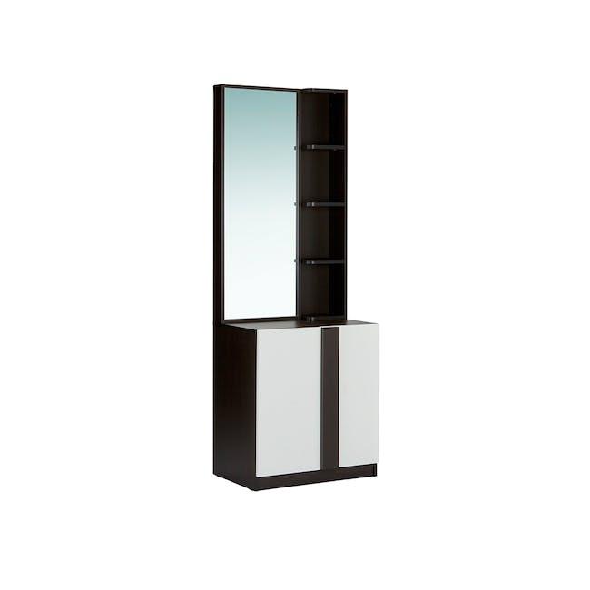 Panama Dressing Table - Brown Black, White - 0
