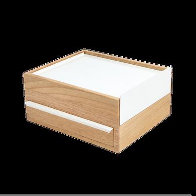 Stowit Storage Box - White, Natural - Image 2