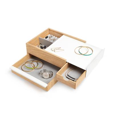 Stowit Storage Box - White, Natural - Image 1