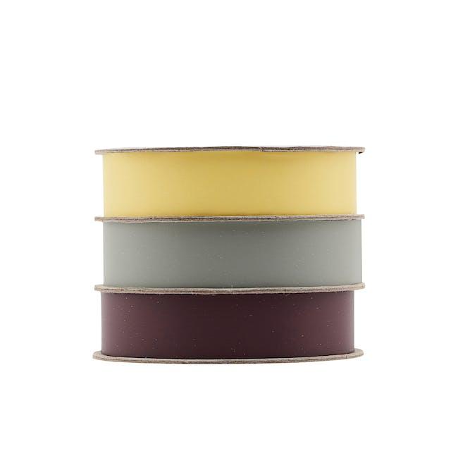 Polly Ribbon - Yellow, Green, Bordeaux (Set of 3) - 0