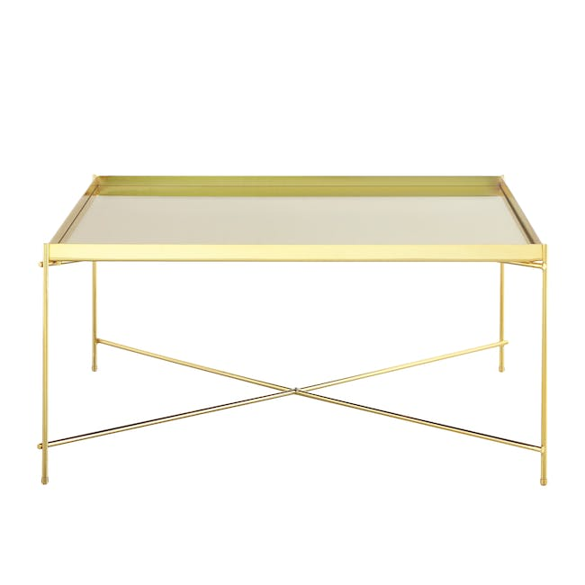 (As-is) Chloe Square Coffee Table - Champagne - 3 - 0