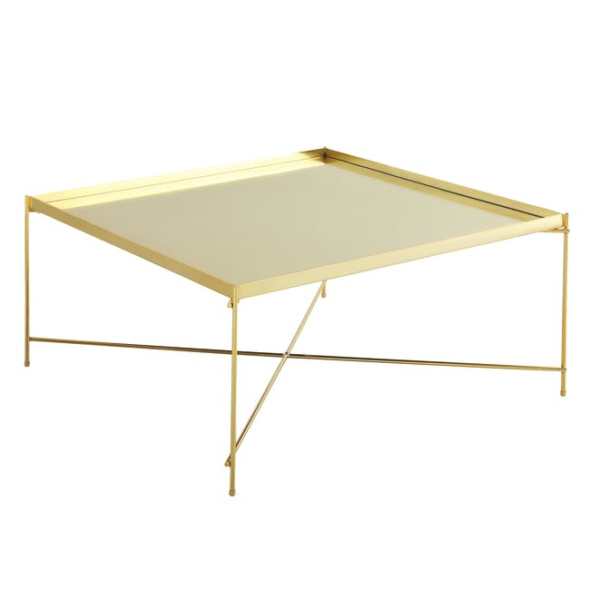 (As-is) Chloe Square Coffee Table - Champagne - 4 - 5