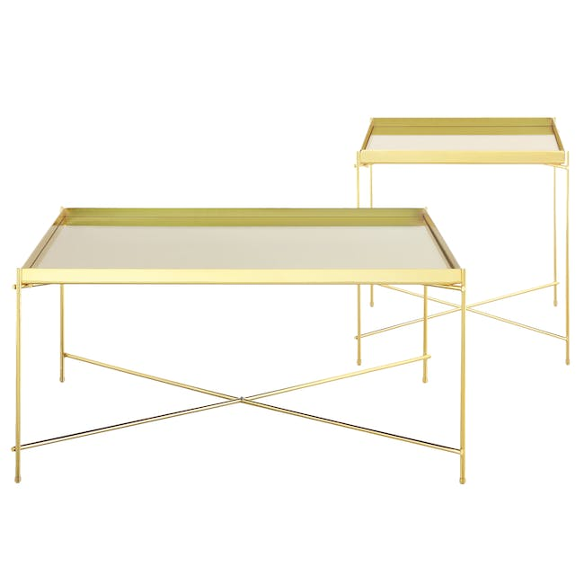 (As-is) Chloe Square Coffee Table - Champagne - 4 - 7