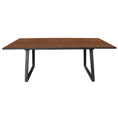 Orlando Extendable Dining Table 1.6m with 4 Venice Dining Chairs - Walnut - Image 2