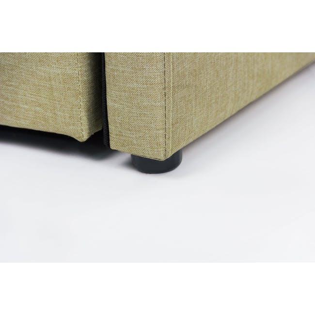 ESSENTIALS Super Single Trundle Bed - Khaki (Fabric) - 10