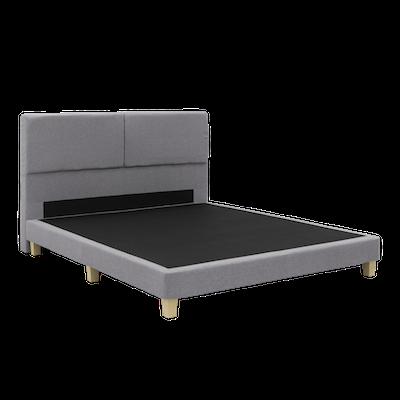 ESSENTIALS Cushioned Headboard Bed - Grey (Fabric) - Image 2