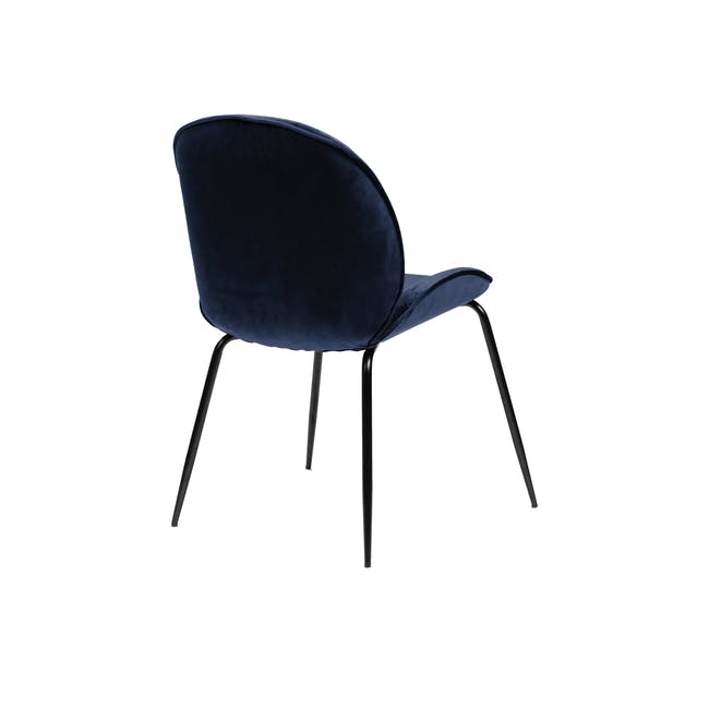 Telyn Oval Dining Table 1.6m with 4 Lennon Dining Chairs in Royal Blue and Pine Green Velvet - 9