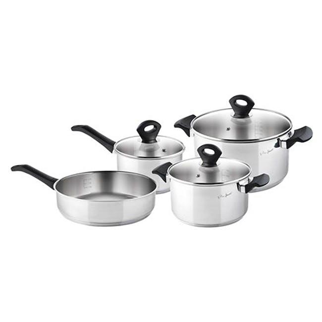 Lamart Stainless Steel Cookware 7pc Set - 0