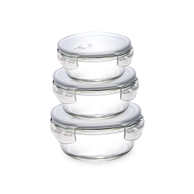 PICNIC Round Glass Food Storage with Lid - 650 ml - Image 2