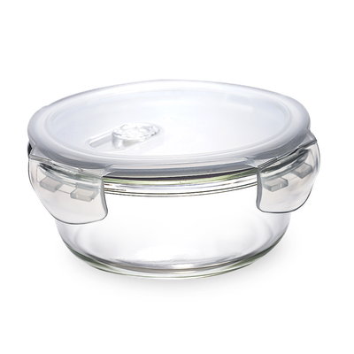 PICNIC Round Glass Food Storage with Lid - 650 ml - Image 1