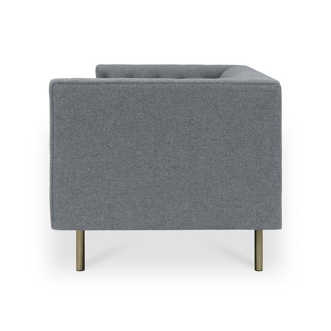 Cadencia 2 Seater Sofa - Charcoal Grey (Fabric) - 3