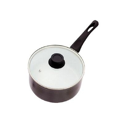 Lamart Induction Ready Sauce Pan/Casserole with Lid - Black - Image 2