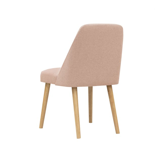 Roden Dining Table 1.8m in Natural with 4 Miranda Chairs in Sea Green and Pink - 17