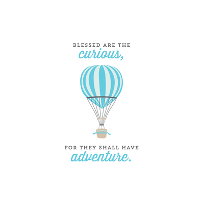 Blessed Are The Curious Canvas Art Print - Image 2