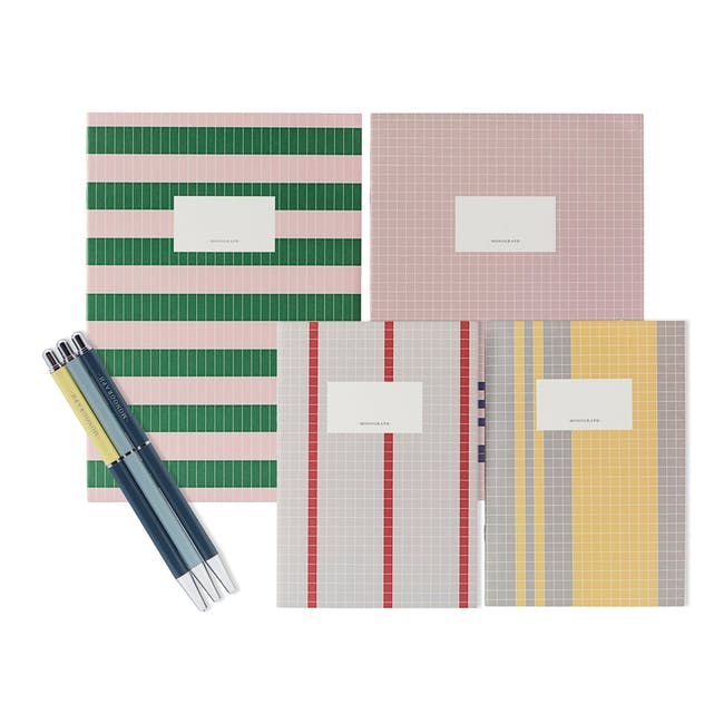 A4 Lily Notebook with A5 Jule Notebook Stationery Set - 0