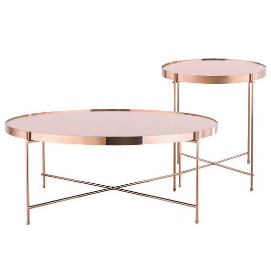 sourcebynet chloe round coffee table rose gold hipvan. Black Bedroom Furniture Sets. Home Design Ideas