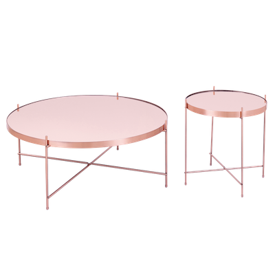 Chloe Round Coffee Table - Rose Gold - Image 2
