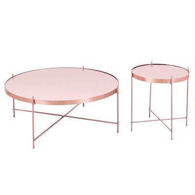 Buy coffee tables online in singapore hipvan for Rose gold round coffee table