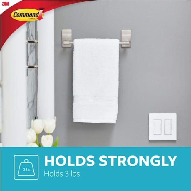 Command™ Satin Nickel Towel Bar - 1