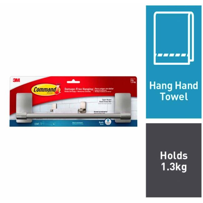 Command™ Satin Nickel Towel Bar - 3