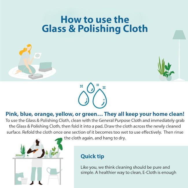 e-cloth Glass and Polishing Eco Cleaning Cloth - Alaskan Blue - 3