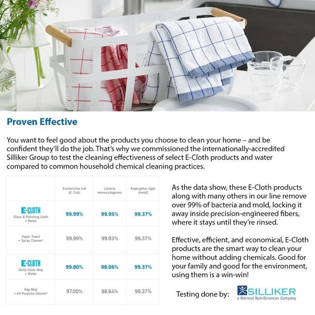 e-cloth Glass and Polishing Eco Cleaning Cloth - Alaskan Blue - 5