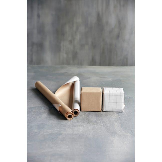 Grid Kraft Wrapping Paper - 5m (Set of 2) - 2