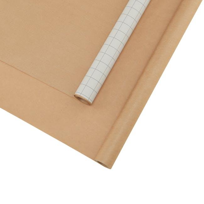 Grid Kraft Wrapping Paper - 5m (Set of 2) - 0