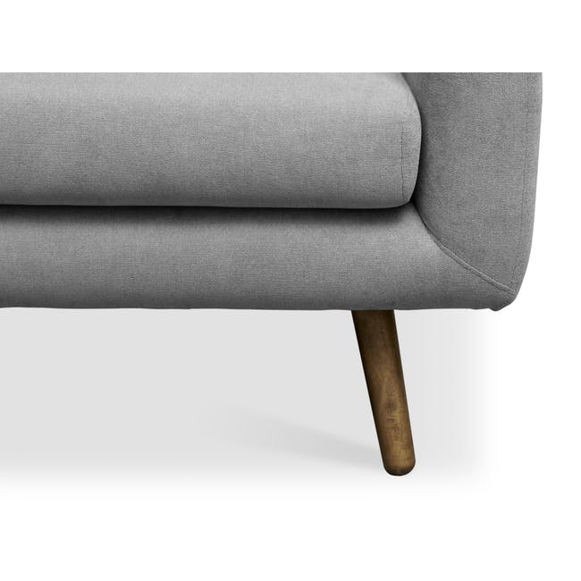 Luke 3 Seater Sofa - Gray Owl - 5
