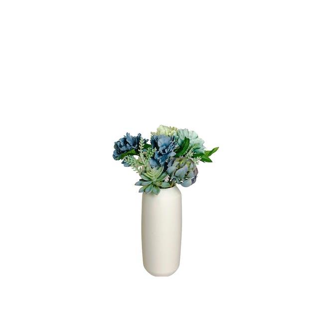 Large Cylinder Floral Clay Vase - Design 6 (Lite) - 0